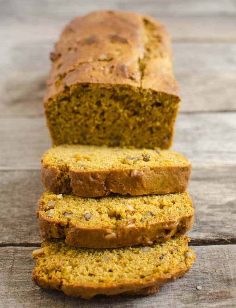 Naturally sweetened and low-sugar pumpkin bread is full of flavor without the guilt.