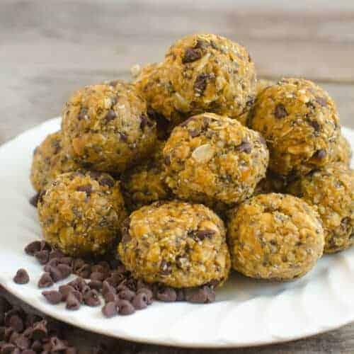 No-Bake Pumpkin Oatmeal Energy Balls