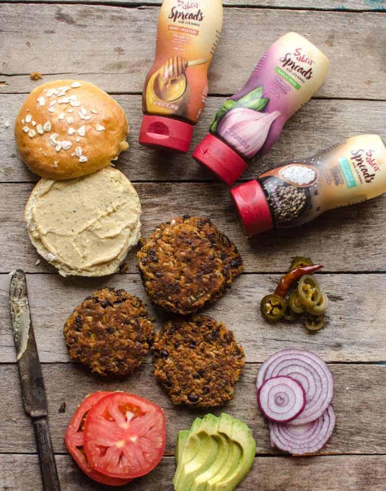 Sweet Potato and Black Bean Burgers - Sabra
