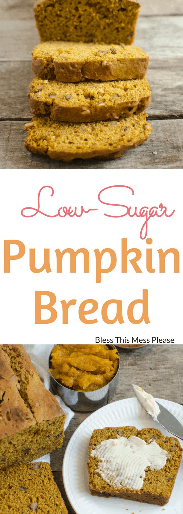 Low-Sugar Pumpkin Bread
