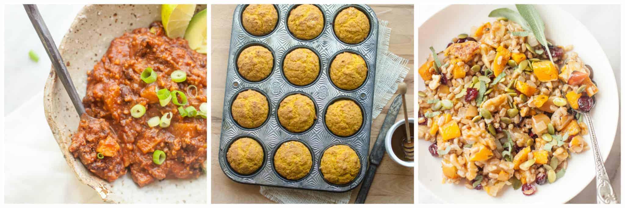 40 Sweet and Savory Pumpkin Recipes- lots of healthy pumpkin recipes too!