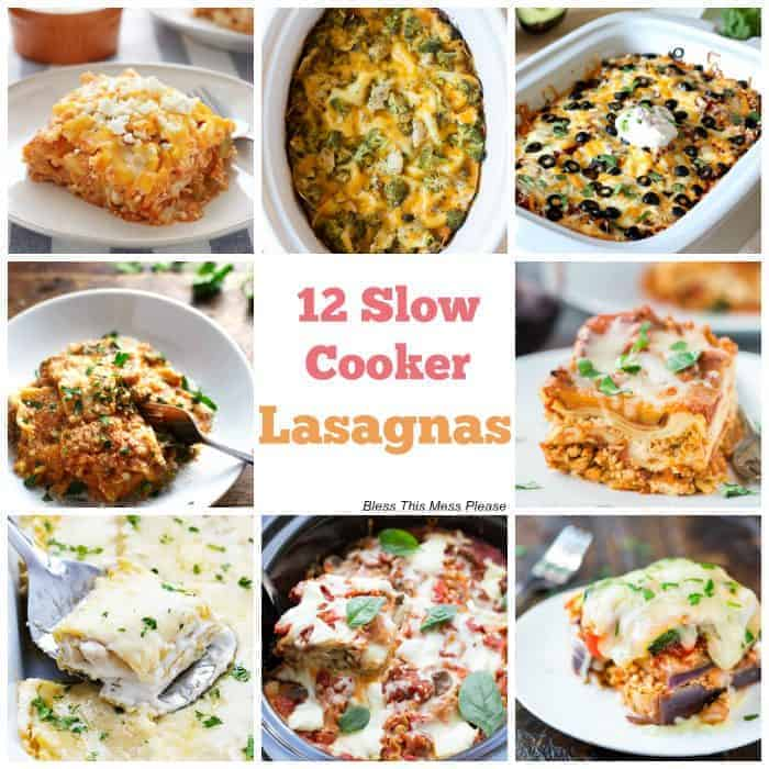 A dozen slow cooker lasagnas for you - making lasagna doesn't have to be a time-consuming process that makes a huge mess of your kitchen!