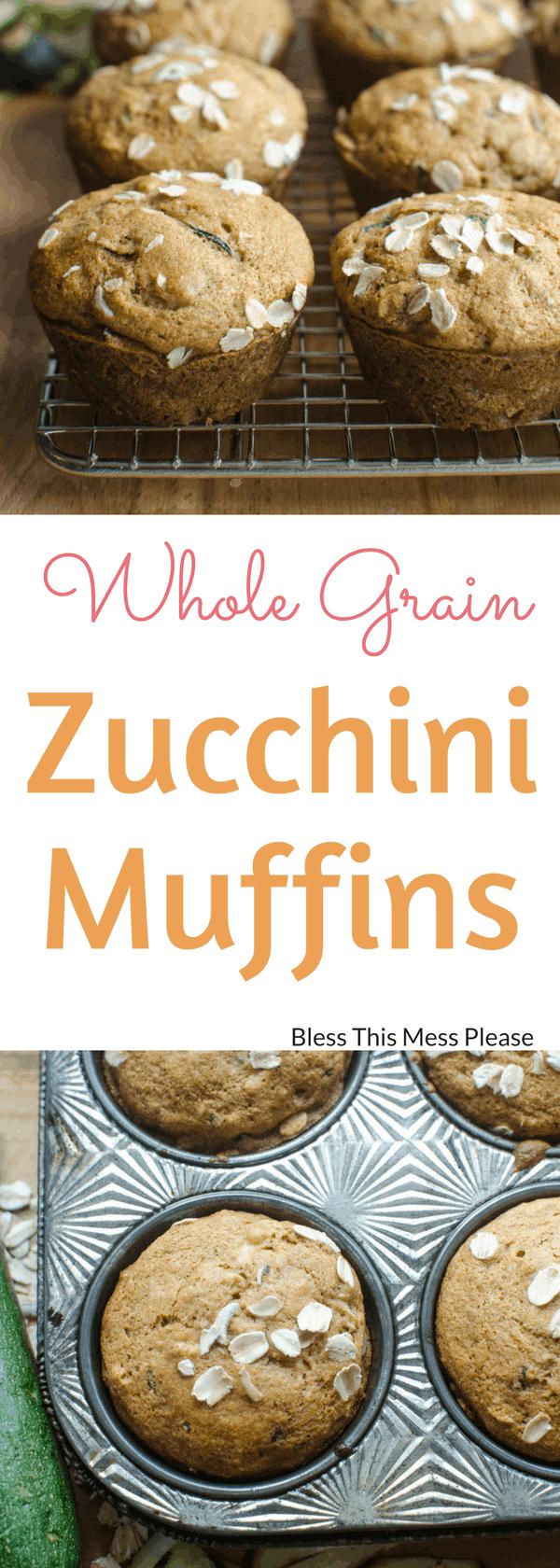 Whole Grain Zucchini Muffins