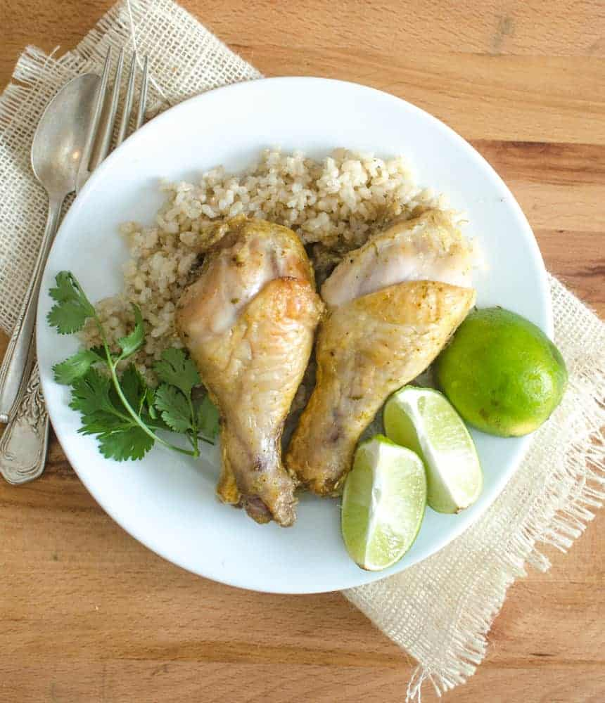 Curried Coconut Lime Chicken Legs