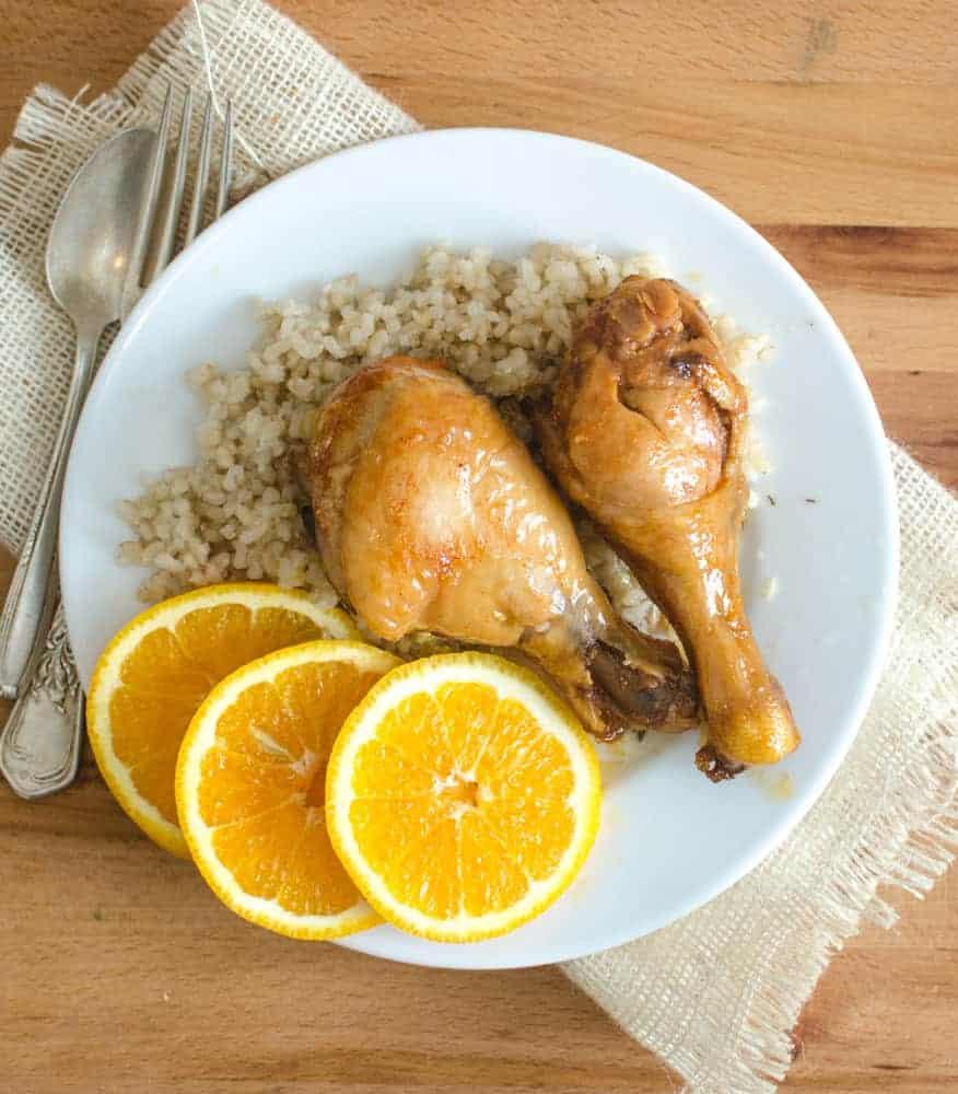 Easy Orange Chicken Legs