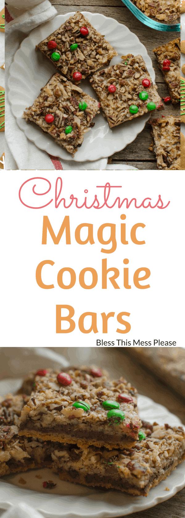 Christmas Magic Cookie Bars