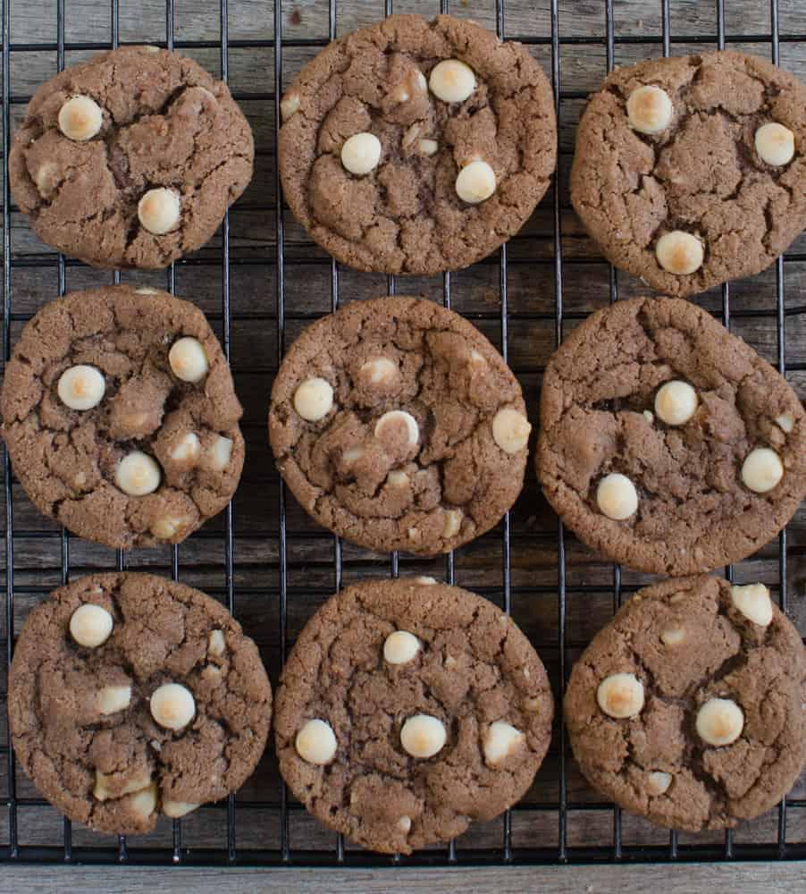 Christmas Cookies - Double Chocolate Macadamia Cookies