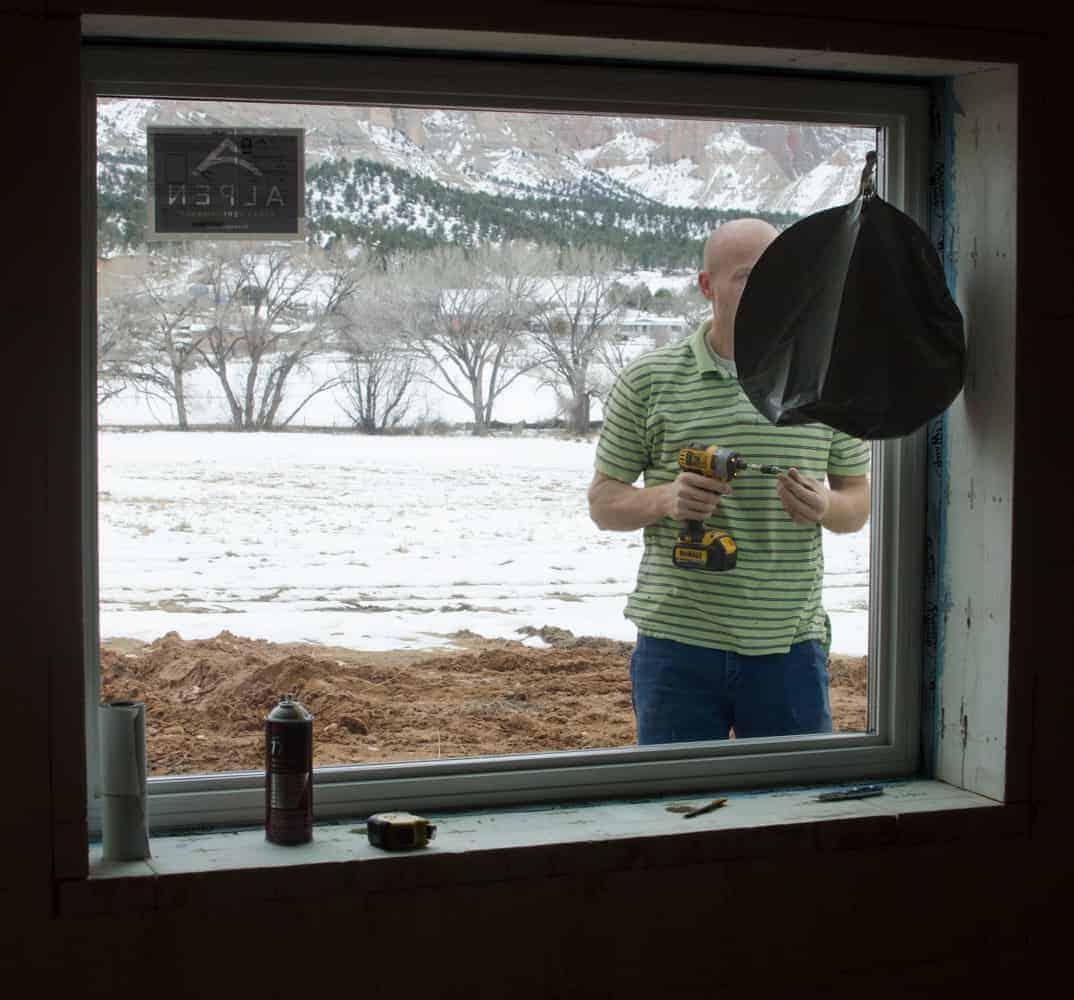 Flashing the basement windows.