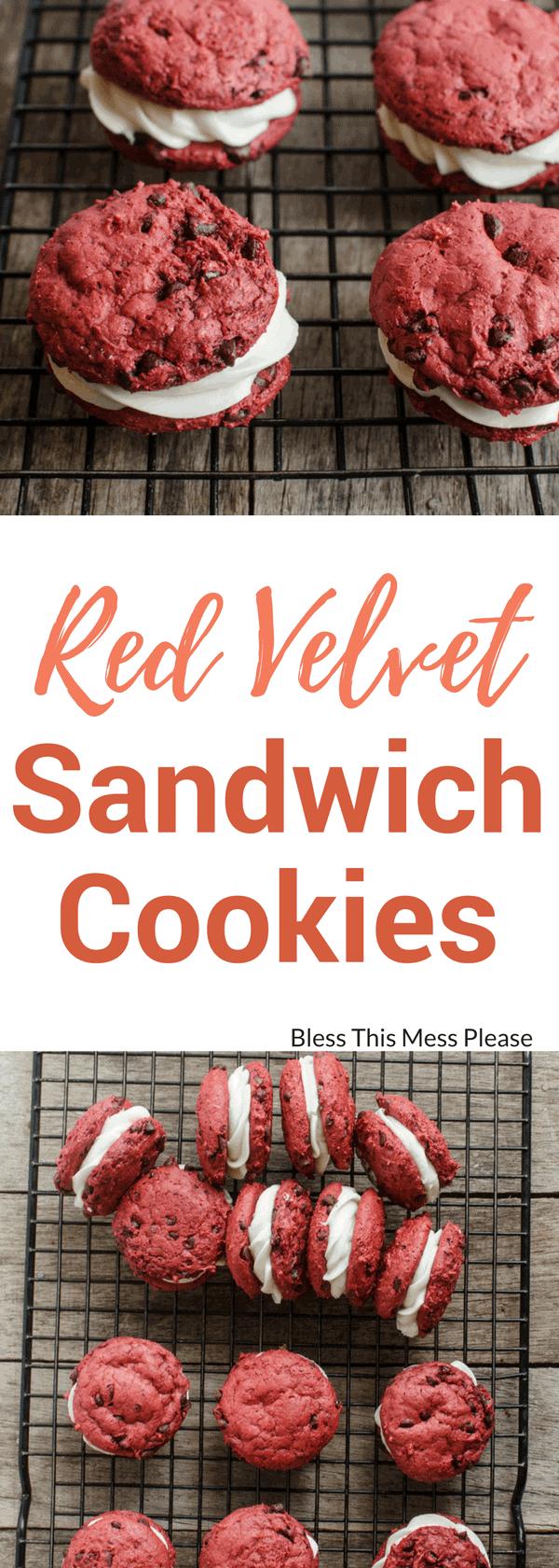 Easy Red Velvet Sandwich Cookies