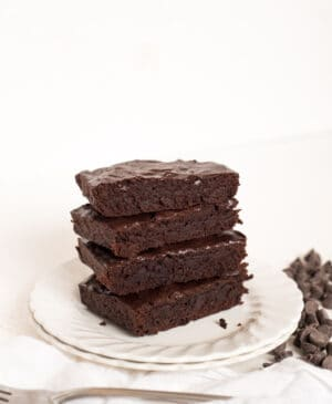 Small Batch Double Chocolate Brownies makes just enough for a romantic dessert for two. Rich, fudgy brownies for the win!