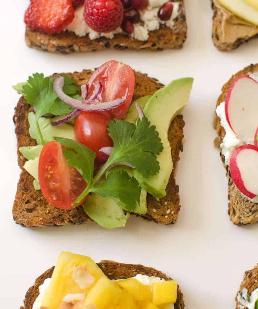 Healthy Toasts - Tex-Mex Avocado Toast