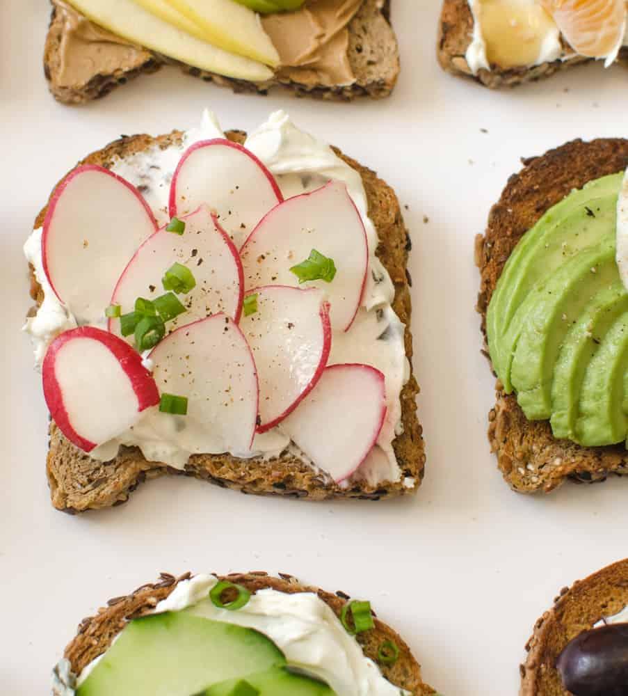 Healthy Toasts - Garden Radish Toast
