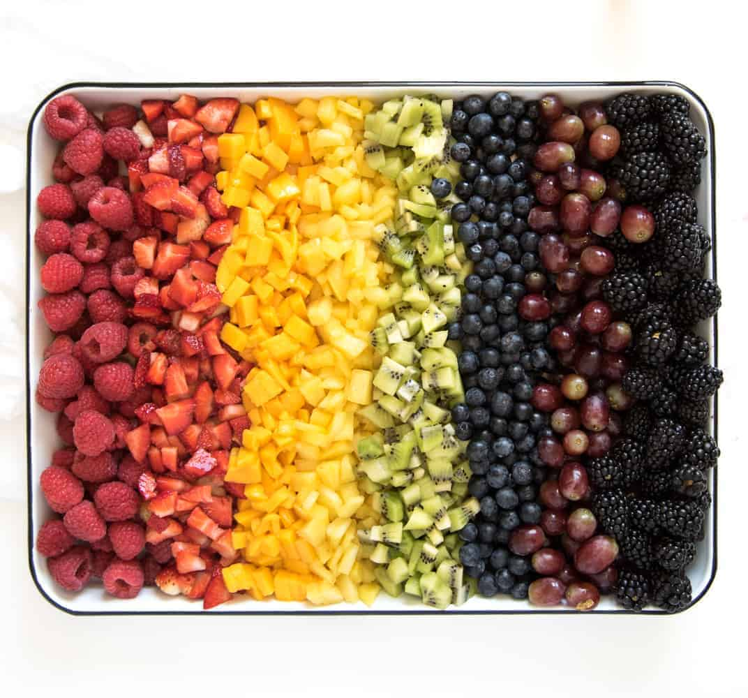 healthy rainbow popsicles - fruit