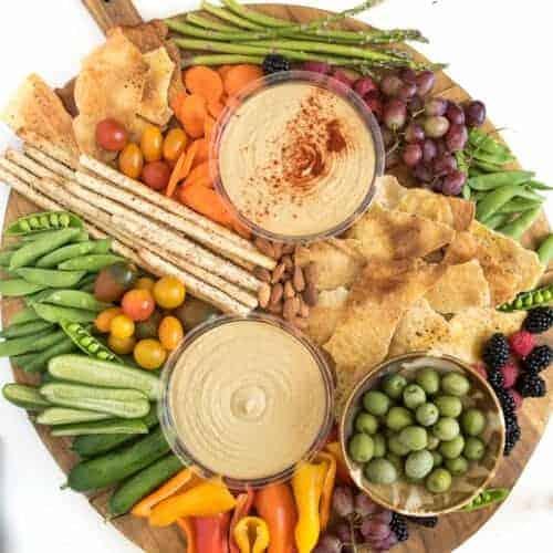 Simple DIY Hummus Platter