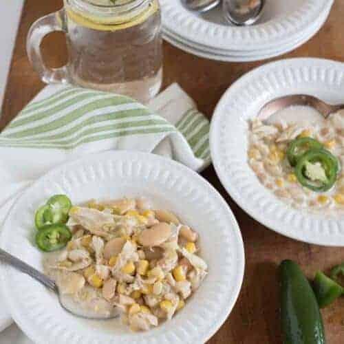 Creamy Slow Cooker White Chicken Chili