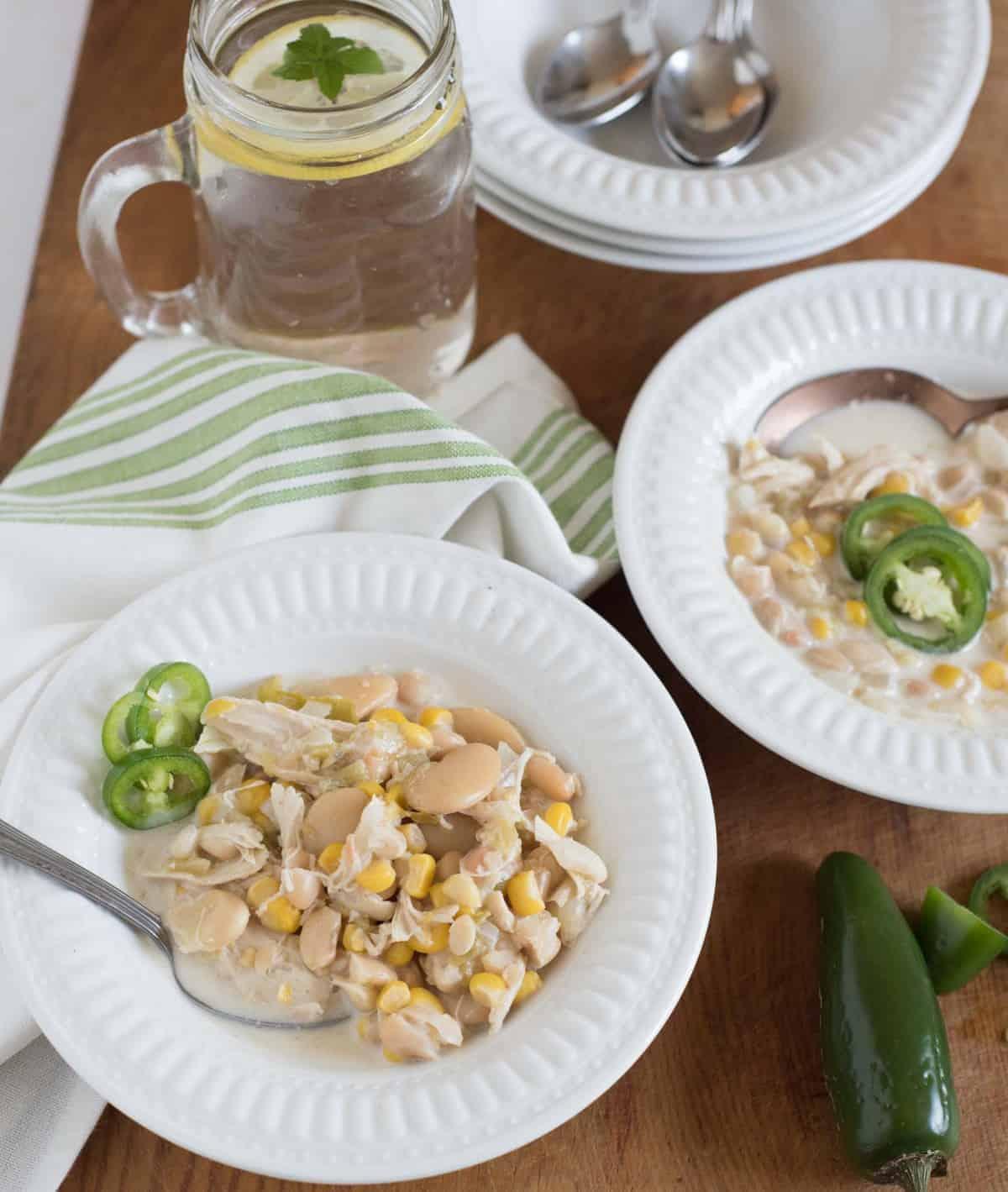 Photo of Creamy White Chicken Chili