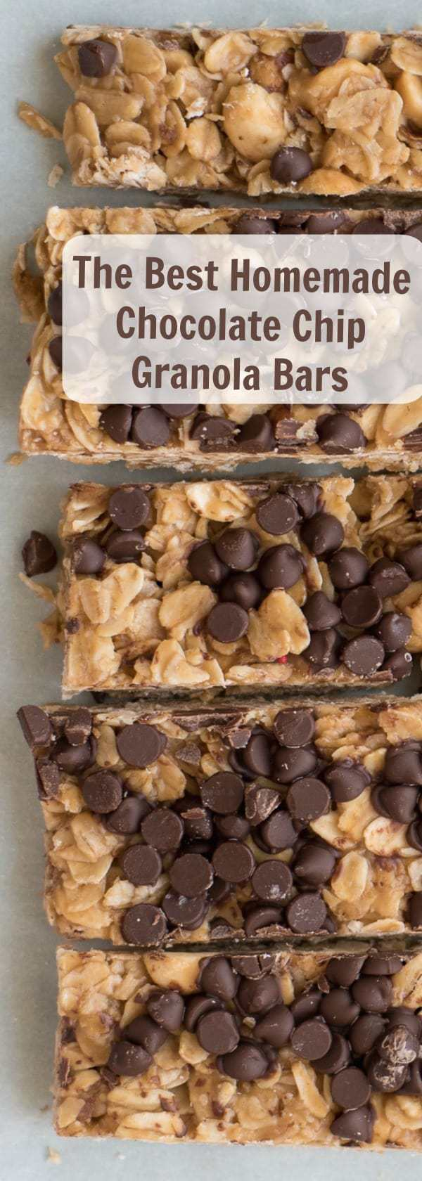 The best and easiest chocolate chip granola bar recipe ever, and the best part it includes peanut butter too!