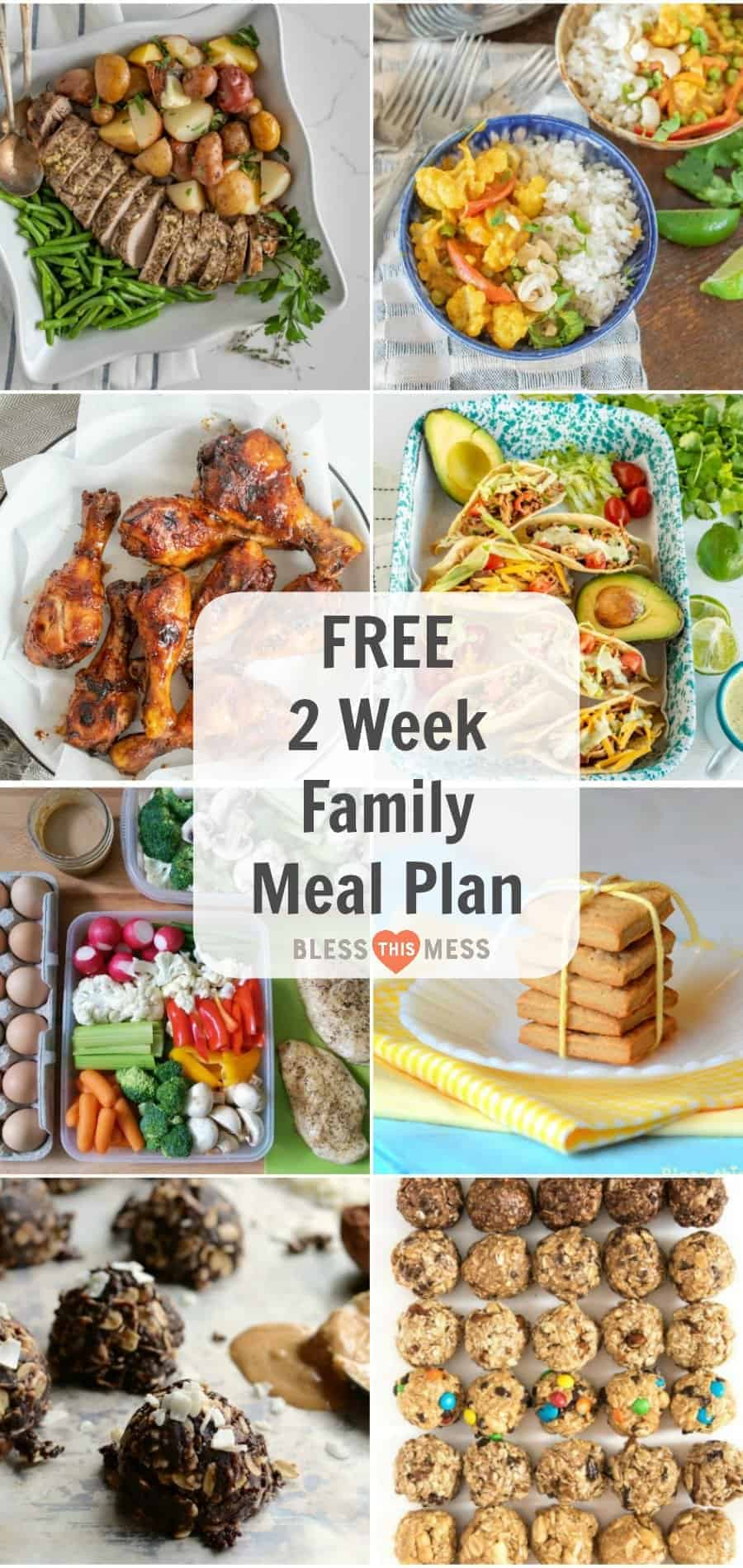 8 Day Clean Eating Meal Plan for the Whole Family