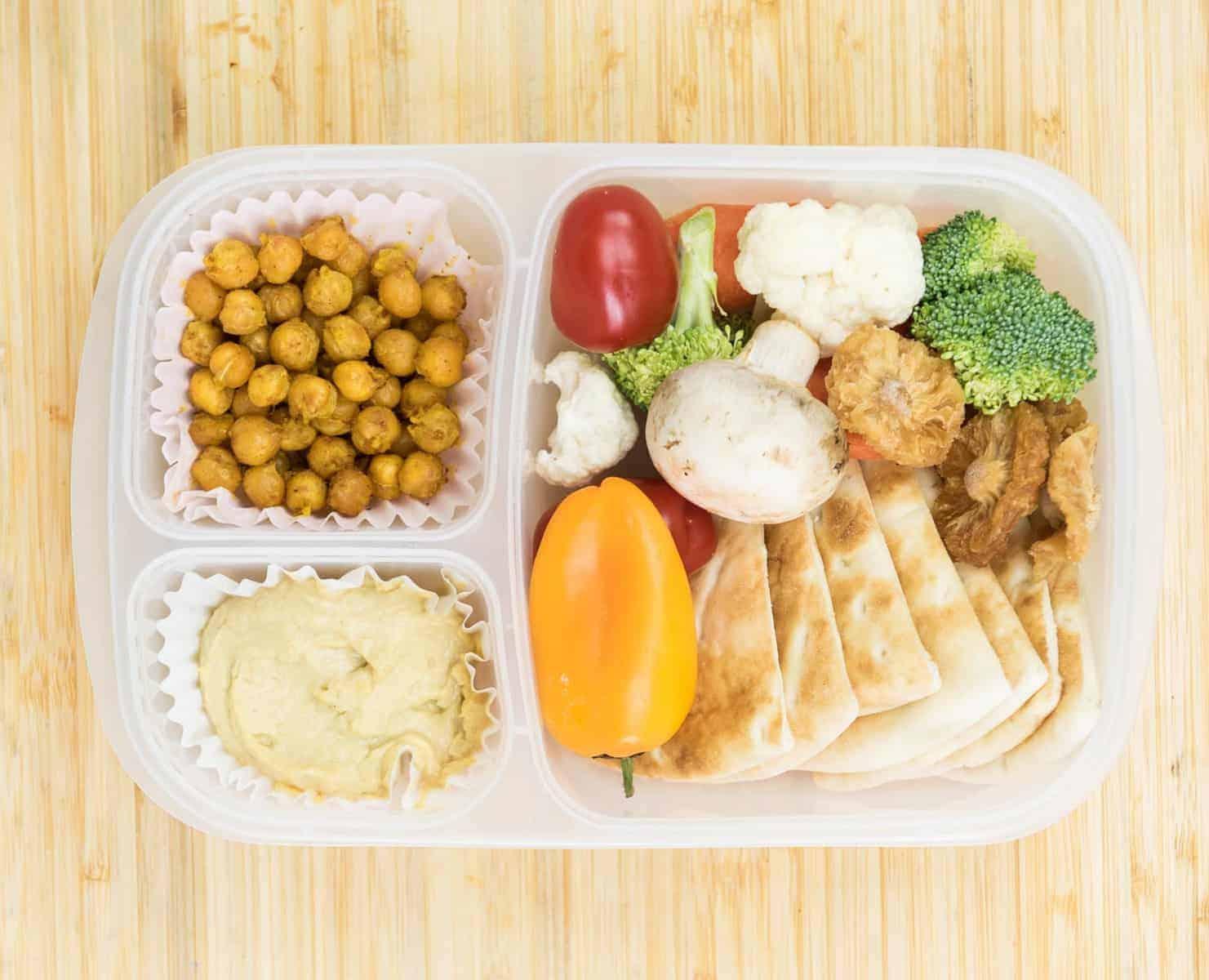 Lunch Box Ideas - Hummus Lunch Box