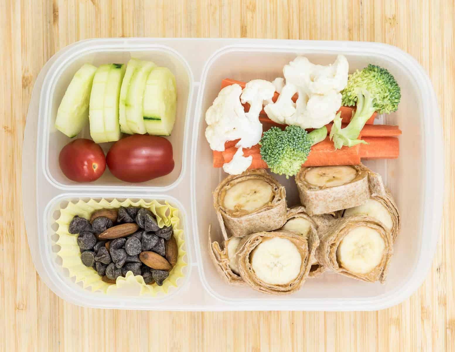 Lunch Box Ideas - Banana Sushi Lunch Box