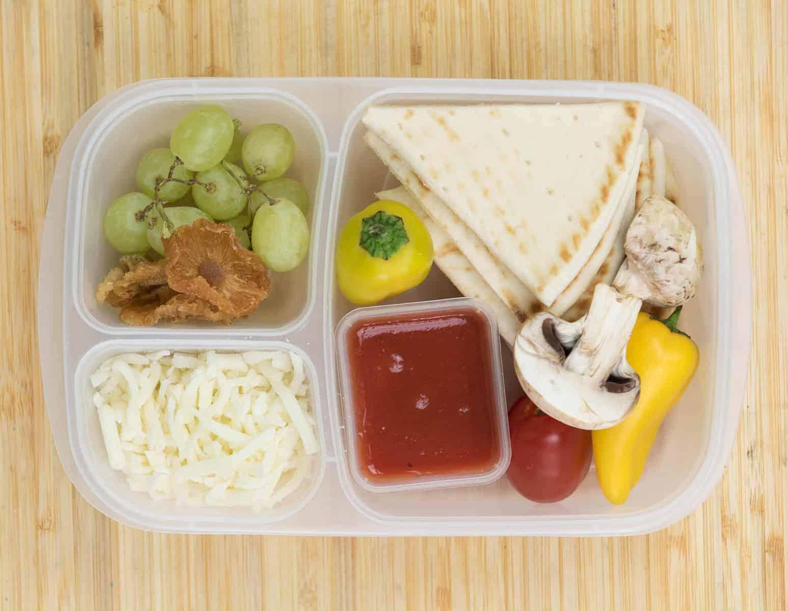 Lunch Box Ideas - DIY Pizza Kit Lunch Box