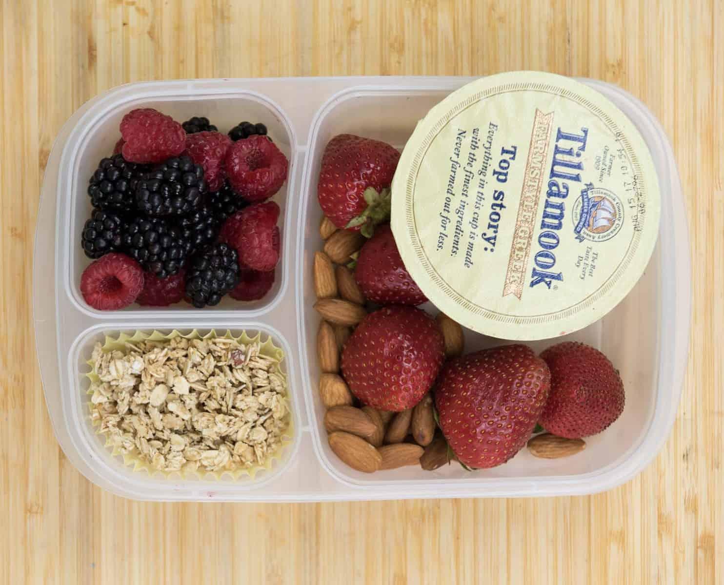 Lunch Box Ideas - Yogurt Parfait Lunch Box
