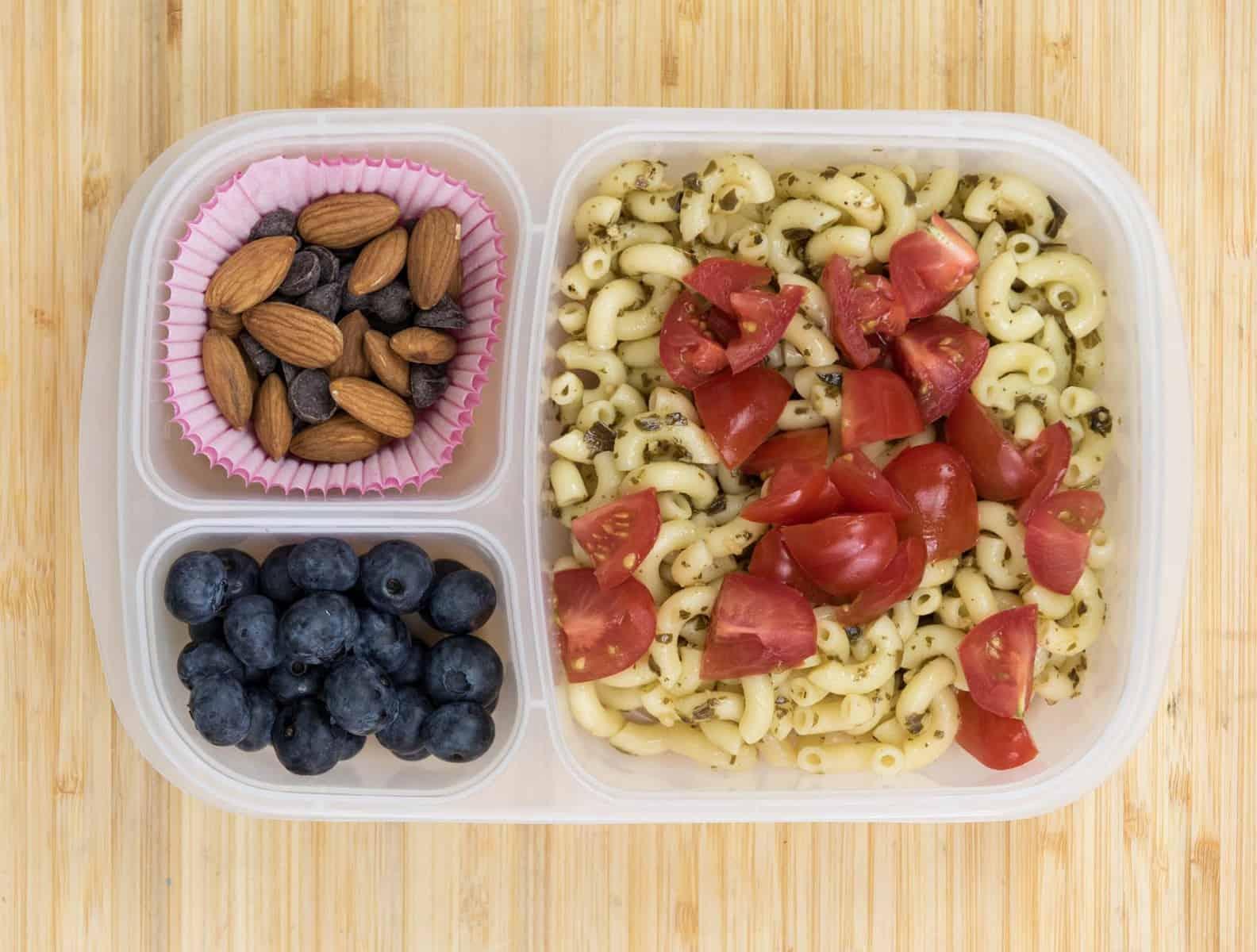 Lunch Box Ideas - Pesto Pasta Lunch Box