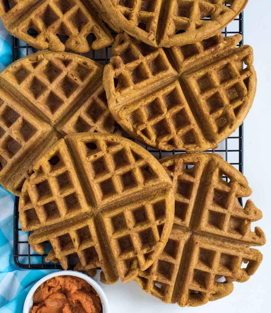 Easy Whole Wheat Pumpkin Waffles Recipe