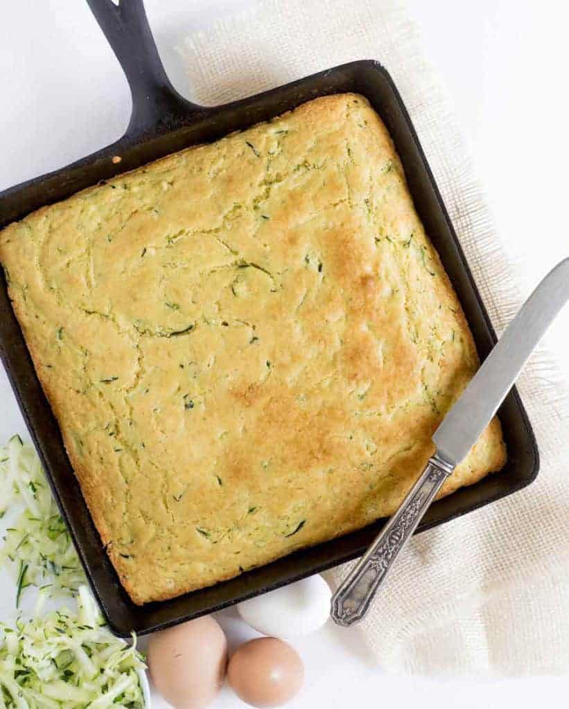 The Best Zucchini Cornbread Recipe   Easy, Fluffy & Sweet Cornbread
