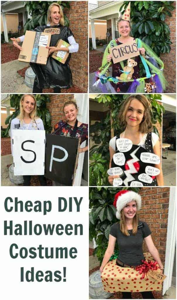 Photo Collage of DIY Halloween Costumes