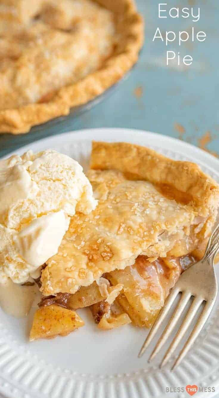 Your go-to basic apple pie recipe made using fresh apple in a homemade crust with very little added sugar.