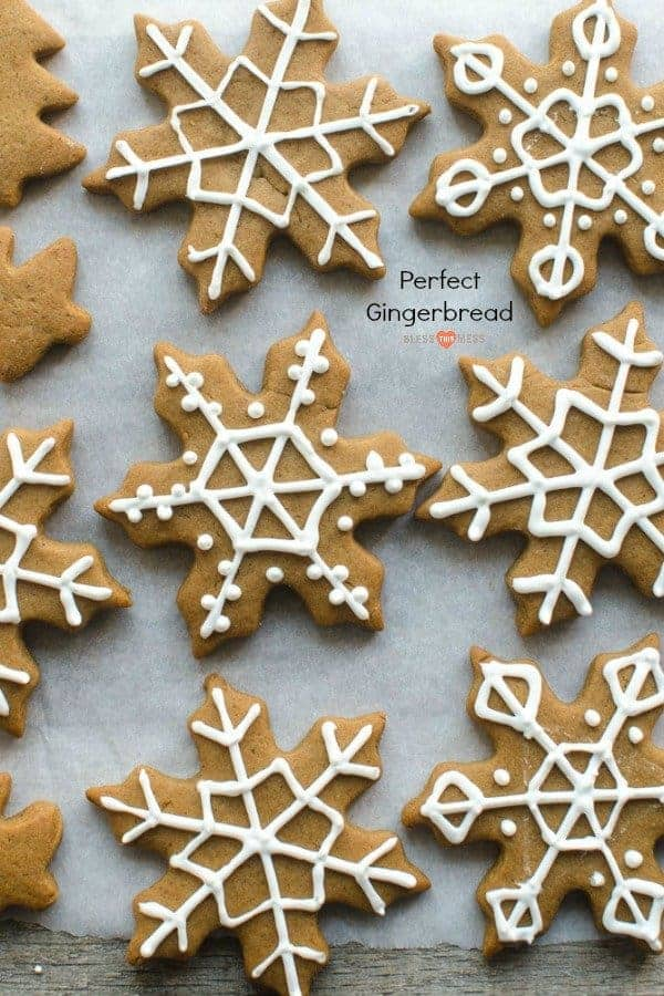 soft gingerbread shaped like snowflakes and decorated with white icing