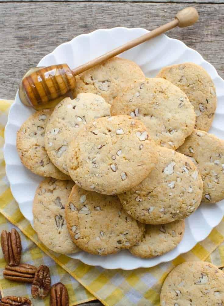 Honey Pecan Slice and Bake Cookies   Easy Make Ahead Cookies