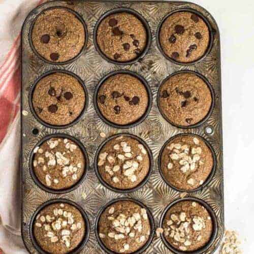 Easy & Healthy Banana Muffins Made in the Blender