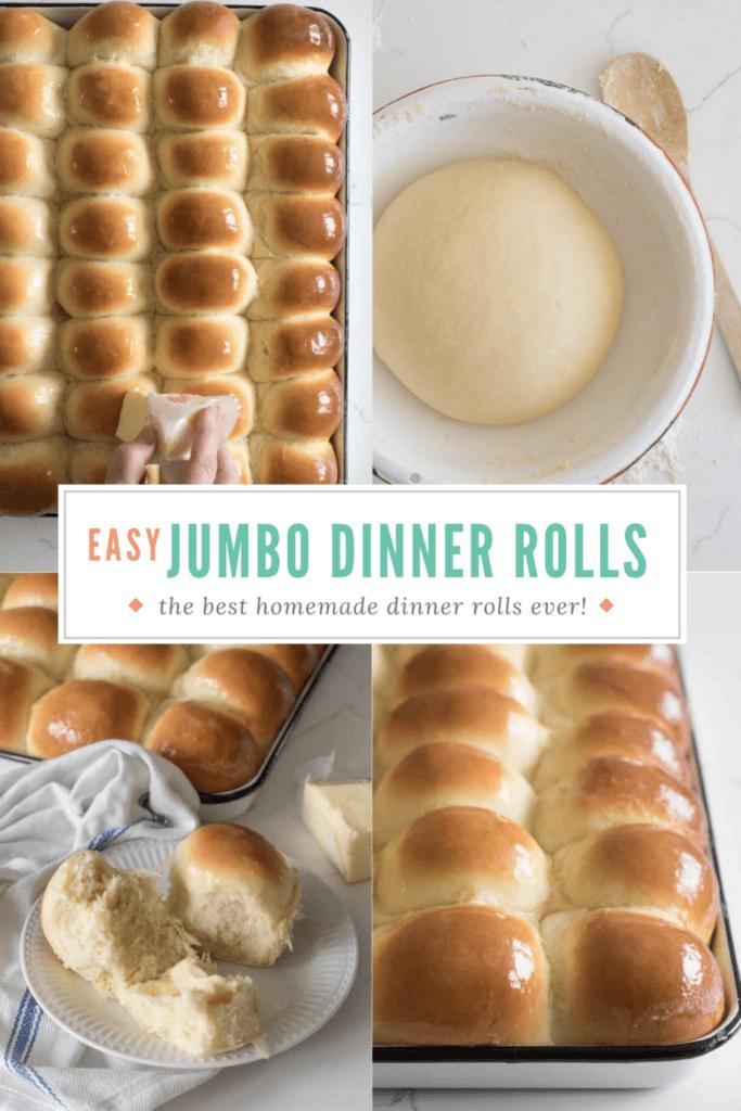 Homemade Dinner Rolls Pinterest Image