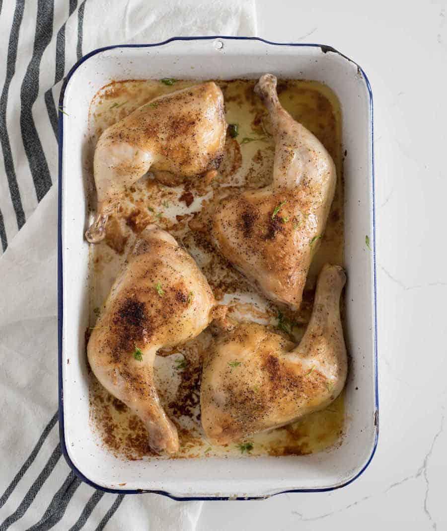 The Best Oven Baked Chicken Leg Quarters