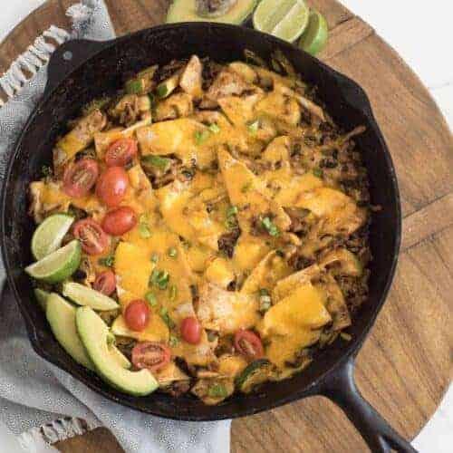 One Pan Chicken Enchilada Casserole