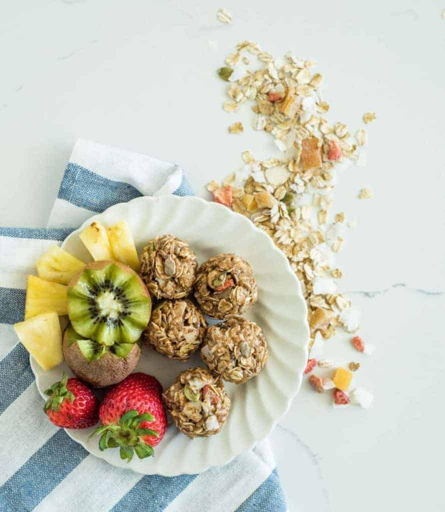 Image of No Bake Muesli Bites and Fruit