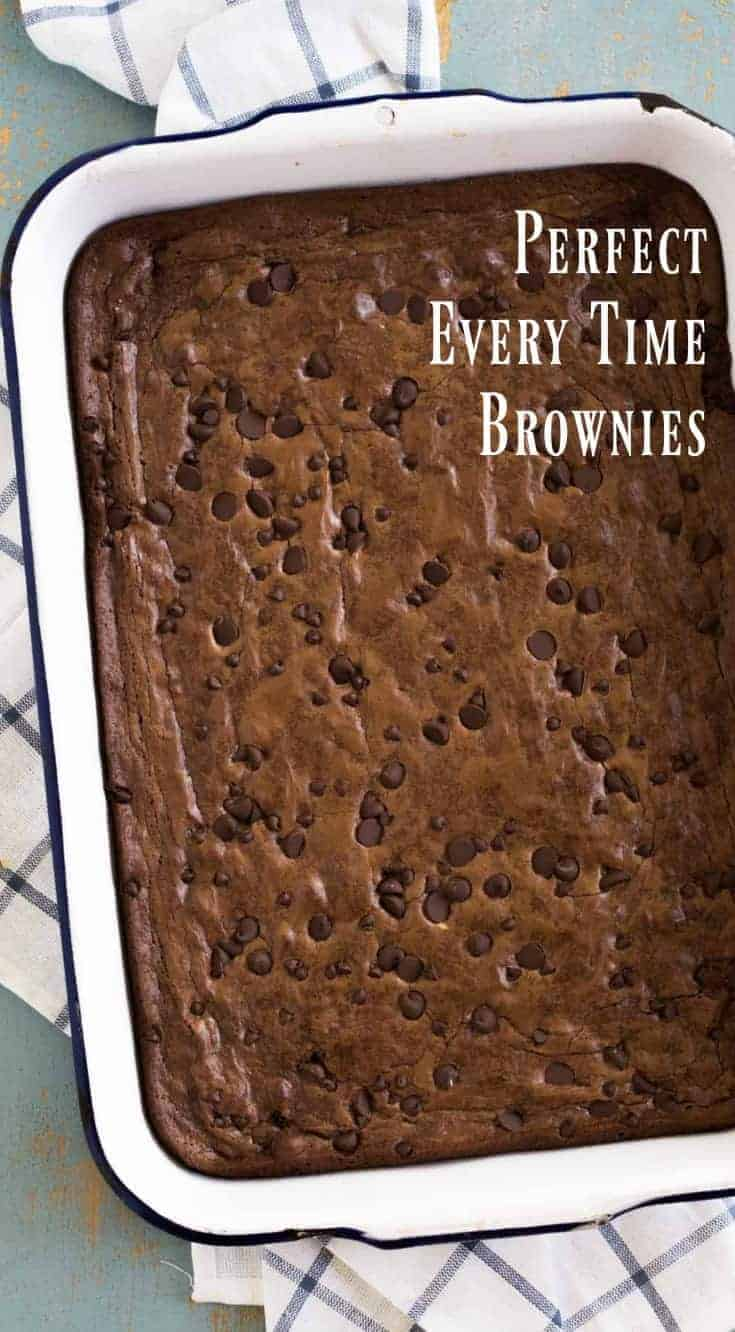 Classic brownie recipe that turns out every time, is not too rich, is perfectly fudgy, and can be made your own with all kind of mix-in's.
