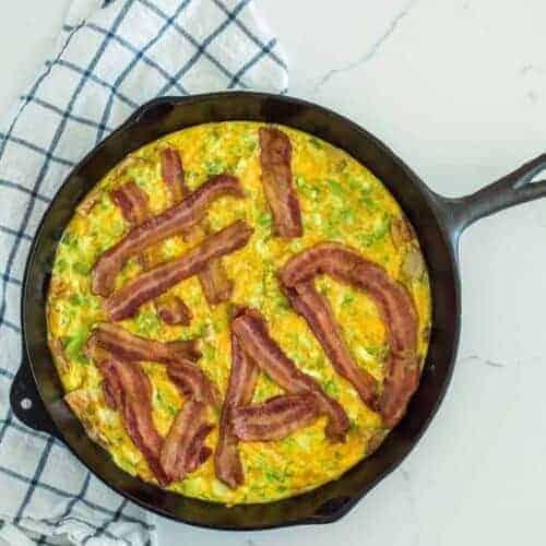 Cheesy Bacon and Roasted Potato Egg Casserole