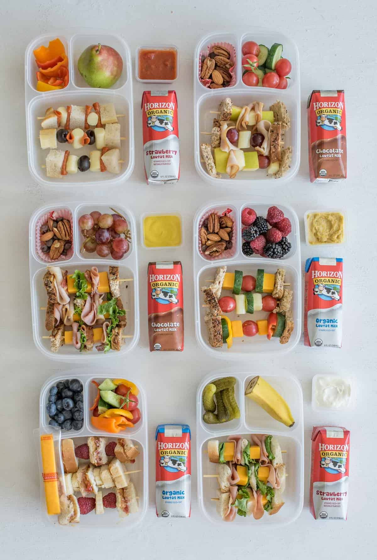 """6 Easy """"Sandwich-on-a-Stick"""" Lunch Box Ideas are perfect to take to school or work and are a fun twist on all of your favorite classic sandwiches."""
