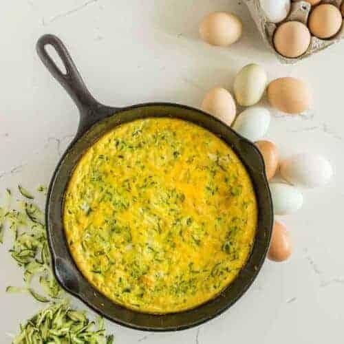 Easy Healthy Make Ahead Zucchini Egg Bake