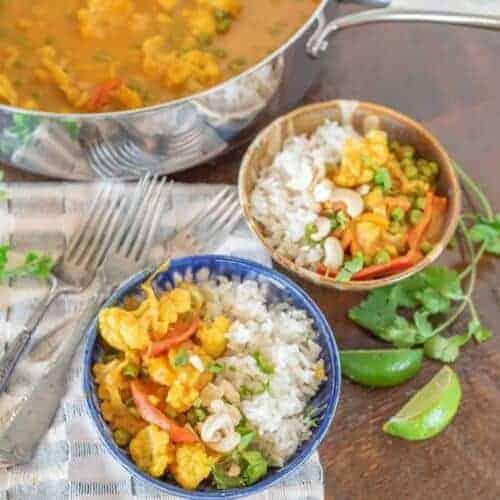 Easy Pumpkin Cauliflower Curry