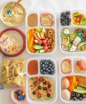 Image of hummus lunch boxes