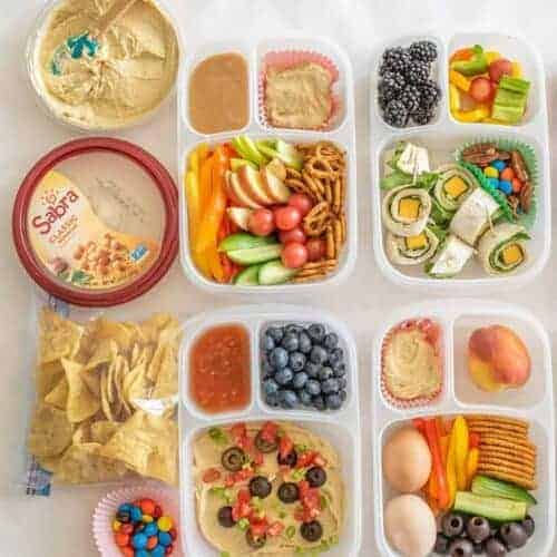 Six Quick and Easy Hummus Lunch Boxes