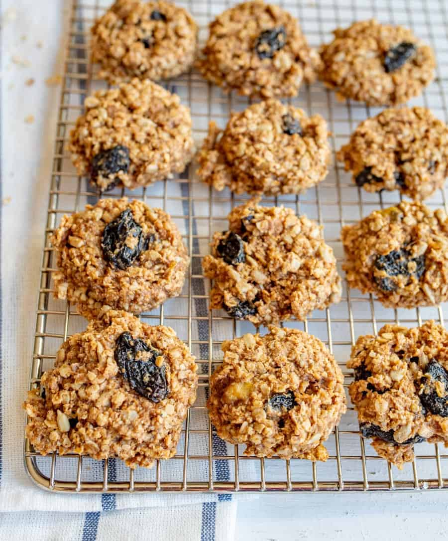 Vegan breakfast cookies that are backed with all kind of healthy nuts, seeds, whole grains, healthy fats, and more to keep you full all morning long.