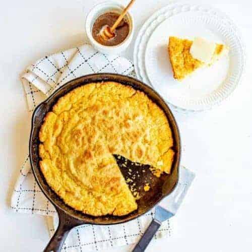 Easy Skillet Cornbread Recipe