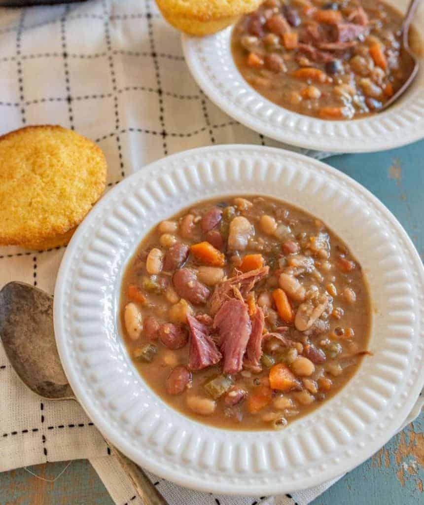 Hearty 15 Bean Instant Pot Soup