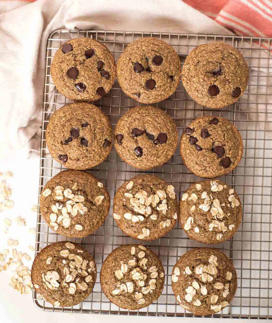 Healthy Banana Blender Muffins