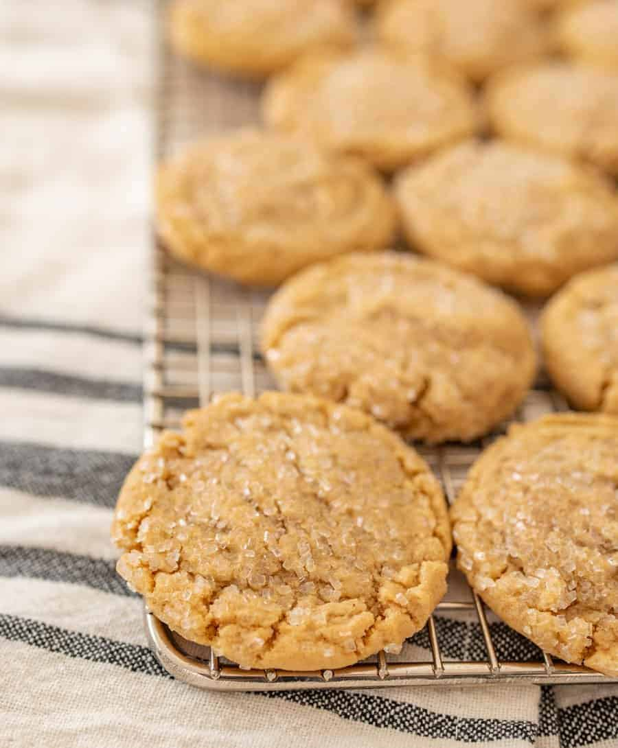 The best peanut butter cookies I've ever eaten because they are so dense and soft and perfectly chewy, you'll make them over and over again.